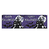 "FR Metallic Happy Halloween Fringe Banner 14"" x 4'"