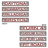 "Racing Street Sign Cutouts 4"" x 24"""