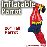"Inflatable 26"" Parrot Prop"