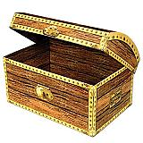 """Treasure Chest Box 11¾"""" x 8"""""""