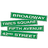 "NYC Street Sign Cutouts 4"" x 24"""