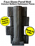 Faux Stone Panel Column Bottom- Halloween