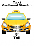 Taxi Front Cardboard Cutout Standup Prop