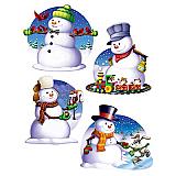 "Snowman Cutouts 16"""