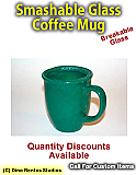 Large Cafe Style Coffee Mug Smashable Prop