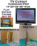 TV LCD Fake-Faux-Dummy Cardboard Cutout Standup Prop