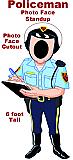 Policeman Photo Face Cardboard Prop
