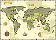 World Map Pirate Backdrop