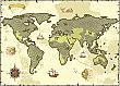 World Map Pirate Backdrop