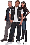 Group (Clay, Jax, Gemma) - Sons of Anarchy Cardboard Cutout Standup Prop