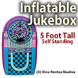 5 Foot Inflatable Jukebox