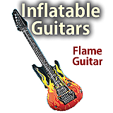 "Inflatable 39"" Flame Guitar"