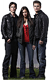 Vampire Diaries Group (Damon, Elena, and Stefan) - The Vampire Diaries Cardboard Cutout Standup Prop