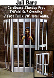Jail Bars Cardboard Cutout Standup Prop