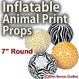 Animal Print Props -7Inch Sphere