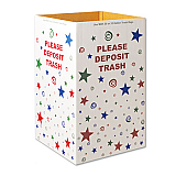 "3D Corrugated Party Trash Bin 15"" x 15"" x 25"""