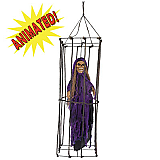 Animated Caged Skeleton