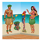 "Hula Girl & Polynesian Guy Props 21""-60"""