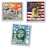 Patriotic Stamp Cutouts 18""