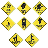 Halloween Road Sign Cutouts 16""