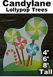 Lollypop Trees Cardboard Cutout Standup Prop