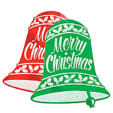 "Glittered Christmas Bell Signs 18"" x 16"""