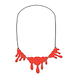 """Dripping Blood Necklace 14"""""""