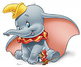 Dumbo Cardboard Cutout Standup Prop