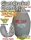 Cracked Egg Foam Prop