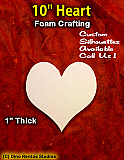 10 Inch Heart Foam Shape Silhouette