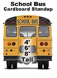 School Bus Cardboard Cutout Standup Prop