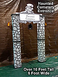 Haunted Cemetery Theme Kit Entrance - Cardboard Prop