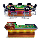 Roulette & Poker Tables Casino Props 5' & 5' 4""