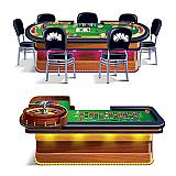 "Roulette & Poker Tables Casino Props 5' & 5' 4"""