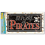 "Beware Of Pirates Peel 'N Place 12"" x 24"""