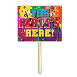 "The Party's Here Yard Sign 12"" x 15"""