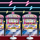 Slot Machine & Neon Lights Backdrop 4' x 30'