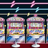 Slot Machine & Neon Lights Backdrop 4' x 30'