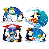 Penguin Cutouts 16""