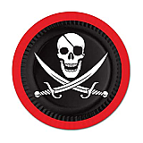 "Pirate Plates 9"""