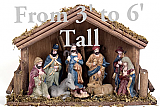 Full Nativity Scene Cardboard Cutout Standup Prop