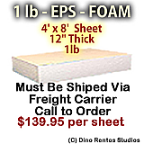 EPS Foam Sheet - 1 lb Density - 48x96x12