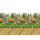 "Tropical Flower & Bamboo Walkway Border 24"" x 30'"
