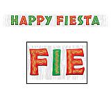 """Metallic Happy Fiesta Banner 10"""" x 8'"""