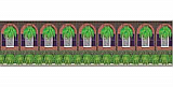 Mardi Gras Balcony Backdrop 4' x 30'