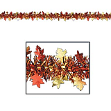 FR Metallic Autumn Leaf Garland 12'