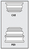 CA9-PE9 - Architectural Foam Shape - Capital & Pedestal