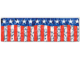 FR Metallic Stars & Stripes Fringe Banner