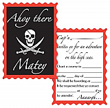 "Pirate Invitations 4"" x 5½"""