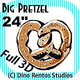 Big Giant Foam Pretzel Prop 24 Inches